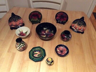 11 Pieces of Moorcroft Pottery