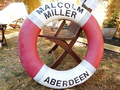 Ship's Perrybuoy from Tall Ship Malcolm Miller in red and white with grab rope