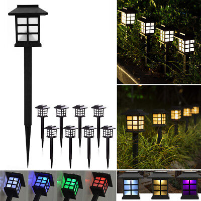 10x Solar Powered LED Garden Lights Auto Patio Yard Garden Led Outdoor Lamp Lot