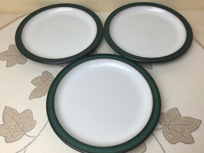 Denby Greenwich 3 x Side Plates Very Good Condition
