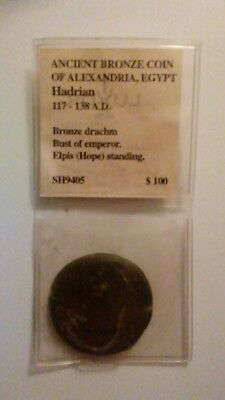 Ancient Bronze Coin Of Alexandria, Egypt Hadrian 117-138 A.D