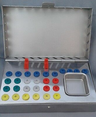 Dental Implant Empty Box Organizer Sterilization for Surgical Drills Drivers 27p