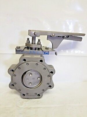 """Jamesbury Butterfly Valve 815L 11, 4"""", Lug, Stainless Steel, Lever Handle, 150#"""