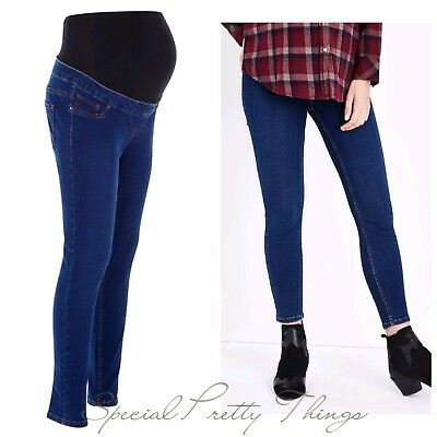Maternity Jeans Blue New Look Over Bump Jeggings Jeans Sizes 8 - 18 Leg 30""