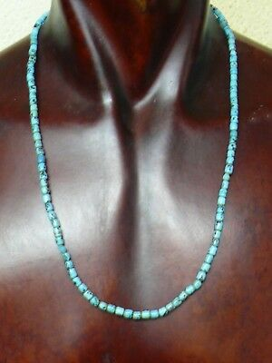 (eH009) Tibet: Old ethnic necklace with small glass beads from Nepal