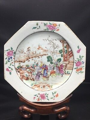Rare Chinese Canton Families Rose Plate QianLong Period 18th Century