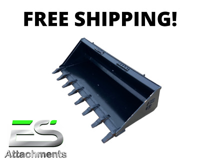 """New 66"""" Tooth Bucket, Powder Coated For Skid Steer Loader - Free Shipping"""