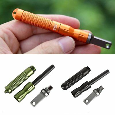EDC Gear Survival Camping Flint Fire Starter Magnesium Waterproof Outdoor Kits