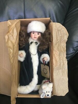 "Boyd's Collection Yesterday's Child Porcelain Doll ""Sonya"" NIB"