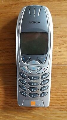 Nokia 6310i mobile phone Silver spares or repairs NO BATTERY