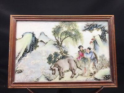 Rare Chinese Families Rose Table Panel 19/20th Century