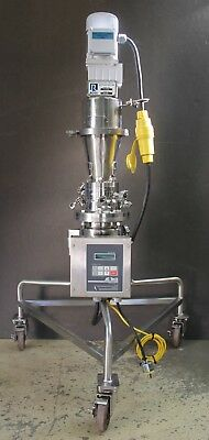 Charles Ross 2 Liter Mixer Jacketed Electropolished w Ribbon Blade AC Controller