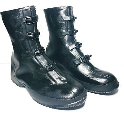 Rubber Boots Cover Mens Size 5 USA Galoshes Waterproof Buckle Work Fishing