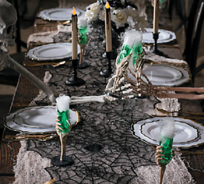 Black Lace Spiderweb Table Runner