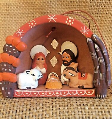 Handmade Pottery from Peru, Nativity Scene, Ornament