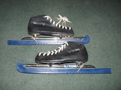 VIKING long blade ice skates with blade covers. Size 39