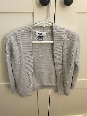Old Navy open front cardigan 3T toddler (lot of two sweaters) grey and navy