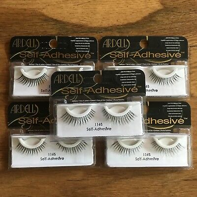Ardell lashes false Self Adhesive 116S New LOT Of 5 Sets