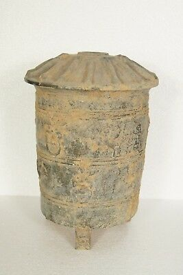 Han Dynasty Old Pottery Staple Pot Vessel Jar Chinese Antique Ware Container