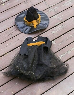 Pottery Barn Kids Baby Witch Tutu Halloween Costume 12-24 Months Cute!