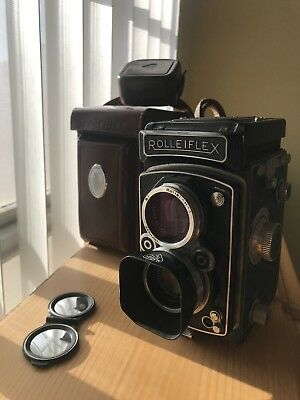 Rolleiflex 3.5 Mx Automat Schneider Xenar 75mm F3.5 W/ Cap Leather Case