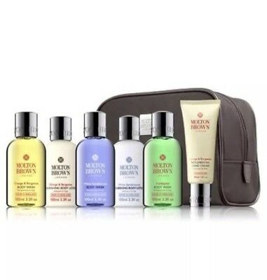 Molton Brown Women's  Stowaway Travel Gift Set Case & 6 X 100ml Products RRP £46