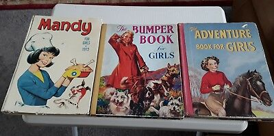 Vintage Mandy 1973 And The Bumper / Adventure Book For Girls 1950's