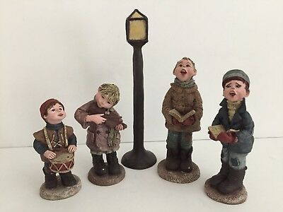 SARAH'S ATTIC Limited Edition 5 Piece Christmas Carolers 1990
