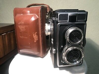 [TOP MINT] Rare Zeiss Ikoflex Ic 886/16 W/ Leather Case Meter Works Excellent