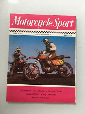 Motorcycle Sport March 1978, Volume 19 #3