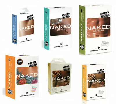 Four Seasons Naked Condoms Sealed Packs Shiver Larger Classic Closer Allsorts