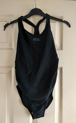 Slazenger Black Maternity Swimming Costume , Size 8 (Xs) , Bnwt , Rrp £26.99