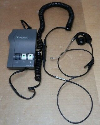 Plantronics Vista M22 Headset Amplifier with QD Cord and Ear Piece Headset