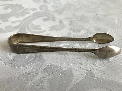 Pair of Silver Sugar Tongs Spoons Hallmarked 11cm Long Decorated Collectable