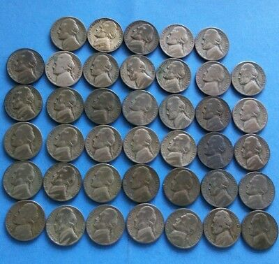 (40)US wartime silver nickels, 35% silver (18030)