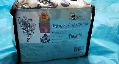 New Croc N Frog 2-in-1 Shopping Cart Cover/High Chair Cover Baby Toddler