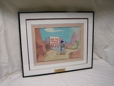 Vintage Original Warner Bros. Roadrunner Production Cel from 1965