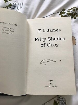 Fifty Shades Of Grey EL James signed Hardback Book