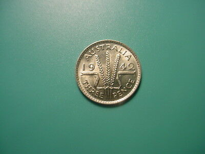 Australia - Silver - 1942-S Threepence In Very Nice Uncirculated Condition