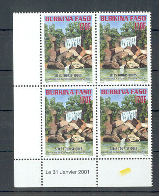 Burkina Faso - Complete Set of blocks of Stamps Year 2001 MNH** Tourism Sites