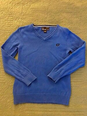 Fred Perry Toddler Boy Pullover V-Neck Knit Sweater size 3T - 4T