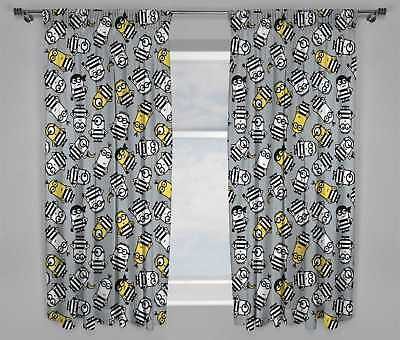 "Kids Bedroom Minions/Despicable Me 3 66"" x 54"" or 72"" Drop Curtains"