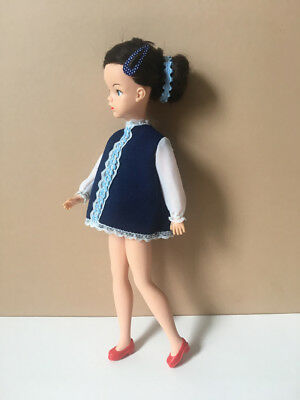 REDUCED 70s mini dress outfit fits Sindy doll red court shoes clothes SHIMMYSHIM
