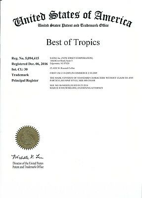"""Registered Trademark """"Best of Tropics"""": Accepting Offers"""