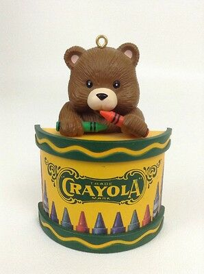 Crayola Crayon and Bear Holiday Christmas Tree Ornament Binney & Smith