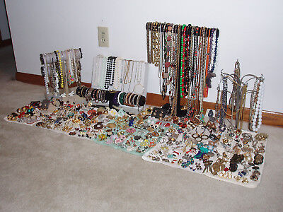 Big Lot Costume Jewelry 300+ pcs Mostly Vintage or Estate w/some more recent pcs