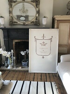 Large Wooden Prosecco Painting Wall Art Print French Antique Vintage