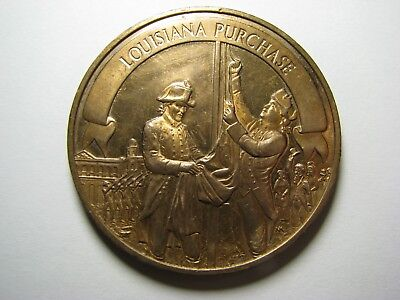 Vintage 1803 Louisiana Purchase <> Franklin Mint Bronze Medal Token