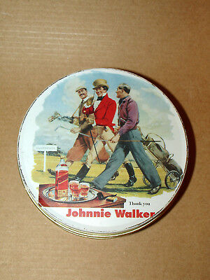 JOHNNIE WALKER  set of 4 coasters in tin box