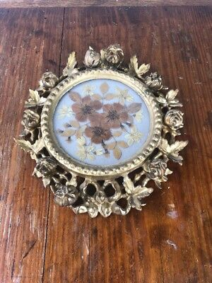 Victorian Ornate Gold Tone Picture Frame Plaster & Wood C.1900 3D Fancy